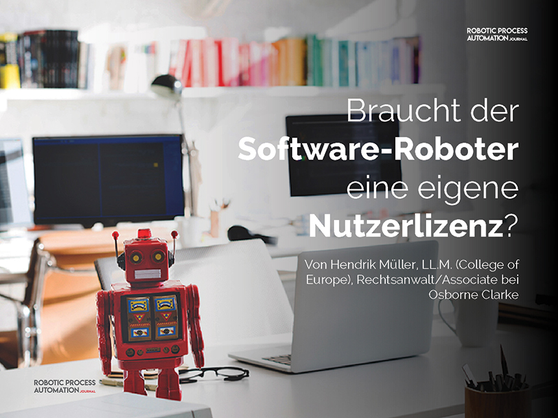Do robots need an own software license? - Guest article ...
